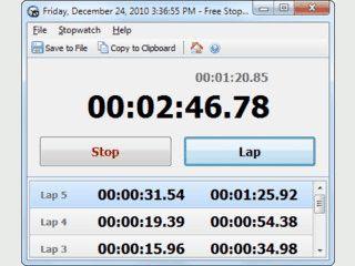 Stoppuhr mit Rundenzähler und Export in eine Textdatei und das Clipboard