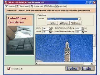 Kopiert das Label und Cover von Original CDs/DVDs durch scannen und drucken