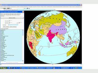 Mehrsprachiger Globus mit Lernprogramm für die Länder und Hauptstädte.