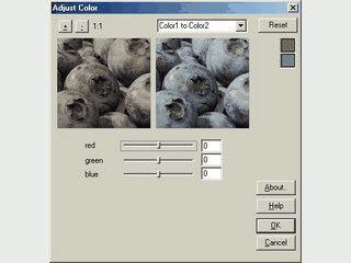 Farbanpassung mittels Ausgangs- und Zielfarbe als Photoshop Plugin.