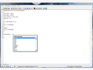 Editor mit Syntax-Highlighting für diverse Programmiersprachen.