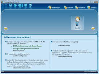 Jugendschutzfilter für den Computer und Schutz für eigene Daten.