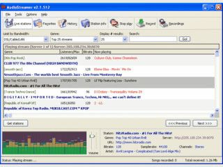 Empfang und Aufnahme von Web-Radio Stationen.