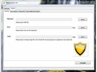 Konvertiert MS Access MDE-Dateien in einen selbstextrahierenden Container.
