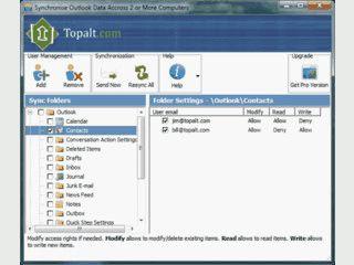 Synchronisiert Microsoft Outlook Ordner via Email.