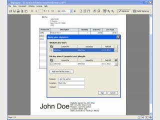 Software zum Betrachten und digitalen Signieren von PDF-Dateien