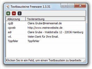 Systemweit Textabausteine verwenden.