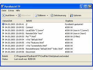 Automatischer FTP File-Transfer mit einfacher aber leistungsfähiger Skriptspache