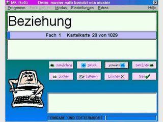 Rechtschreib- und Silbentrainer nach dem Lernkarteiprinzip.