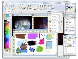 Bildbearbeitung, bzw, Malprogramm mit üblichen Funktionen.