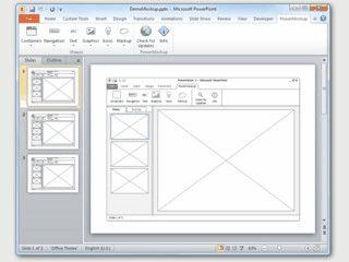 Werkzeug zur Erstellung von Oberflächenskizzen in PowerPoint.