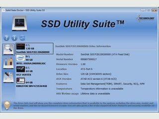 Zeigt Ihnen wichtige Informationen über Ihre SolidState Disc an.