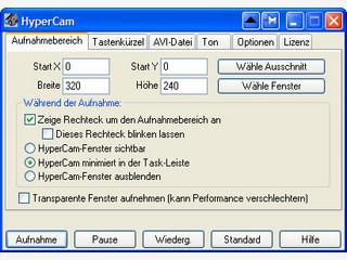 Aktionen die auf dem Bildschirm ausgeführt werden, aufzeichnen.