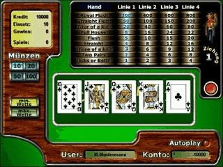 Video Poker Automat wie in den Casinos von Las Vegas