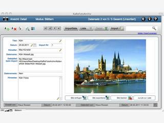Fotodatenbank zur Verwaltung von Fotosammlungen.