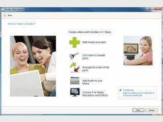 Einfach Diashow-Videos aus Bildern, Videos und MP3s erstellen.