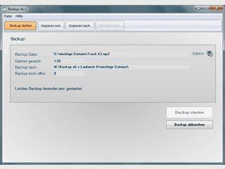 Backup ok-s ist ein Backup - Programm ohne komplizierte Einstellungen.
