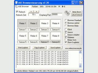 Elektrische Geräte per Web Browser über Netzwerk oder Internet steuern.