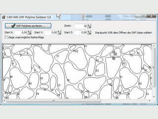DXF Linien Sortieren, um Wege beim Schneiden oder Fräsen zu optimieren.