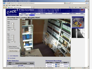 Server der als Video-Überwachungslösung dient. VMWare ISO Image.