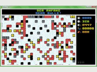 Grafisch einfaches Knobel- und Geschicklichkeitsspiel für Windows.