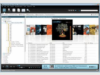 Feature rich music manager- playback, tags, album art, sync, and CD burning.