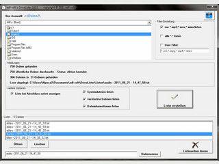 Katalogisierung von Datenträgern, Festplatten und einzelnen Verzeichnissen.