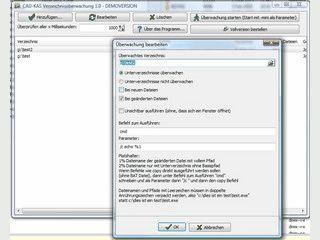 Überwacht Verzeichnisse auf Änderungen und kann Anwendungen starten.