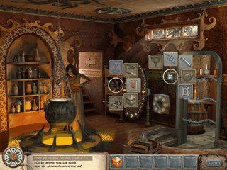 Löse Rätsel und finde alle Hinweise um das Versteck der Hexe zu finden.