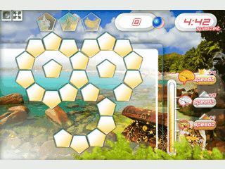 Lernspiel bei dem drei Symbole gefunden und Rechenaufgaben gelöst werden.