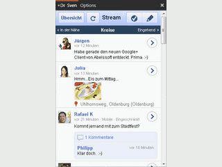 Ein Desktop-Client für Google+ der die News aus Ihrem Netzwerk kompakt anzeigt