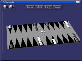 Backgammon 3D is a 3D visualization of a classical board game - Backgammon