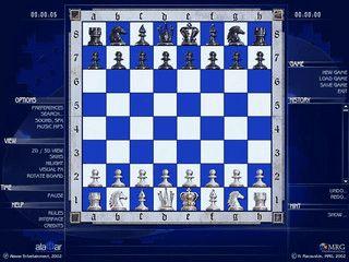 Toll gestaltetes Schachspiel in 3D. Netzwerkfähig.