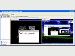 Überwachung und Fernsteuerung von entfernten Computern im Netzwerk.