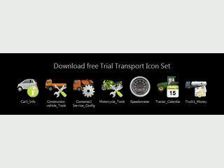Vektorgrafiken aus dem Transportwesen in den Dateiformaten SVG und AI
