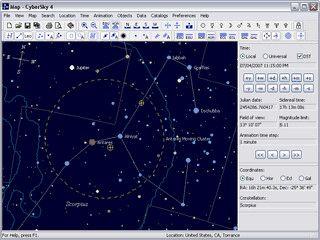 Astronomie-Software mit vielen Informationen.