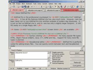 Bequemer und leistungsfähiger Texteditor mit Syntax-Einfärbung