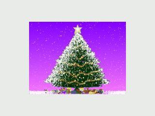Ein animierter Weihnachtsbaum den Sie selbst gestalten können.