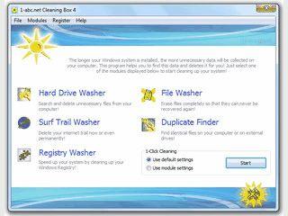 Sammlung mit 5 Werkzeugen zum säubern Ihres Computers.