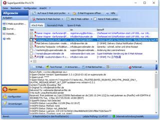 Automatisch Werbemails und schädliche Emails anhand von Filtern entfernen.