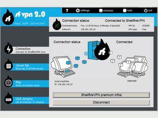 ShellfireVPN für anonymes und verschlüsseltes Surfen im Internet.