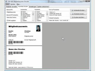 Mitgliedsausweise und Identitätskarten für Vereine, Firmen usw. drucken.