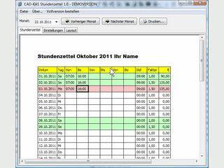 Software zum Erfassen von Stundenzetteln für Arbeitnehmer und Schichtleiter.