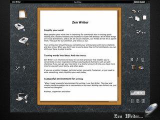 Einfache Textverarbeitung zum schnellen Aufschreiben von Gedanken, Ideen usw.
