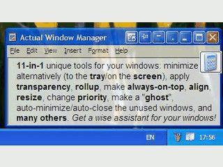 Umfangreiche Toolsammlung um die Fenstereigenschaften zu ändern.