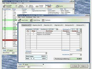 Rechnung-, Lieferschein- und Etikettendruck mit integrierter Datenbank