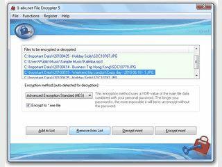 Verschlüsseln Sie beliebige Dateien mit einem persönlichen Passwort.