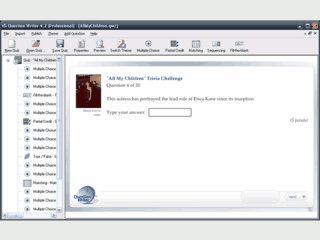 Software mit der Quiz-Anwendungen, Lernspiele usw. erzeugt werden können.