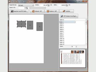 Papieroptimierung beim Ausdruck auf Plotter.
