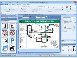 Software zur Erstellung von Flucht- und Rettungswegplänen gemäß DIN ISO 23601